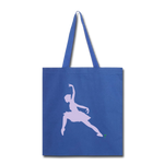 Lead With No Regrets Tote Bag by Andre Nostalgic Brown Collection - royal blue