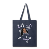 Lead With No Regrets Tote Bag by Andre Nostalgic Brown Collection - navy