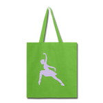 Lead With No Regrets Tote Bag by Andre Nostalgic Brown Collection - lime green