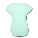 Lead with No Regrets Women's  V-Neck T-Shirt by Andre Nostalgic Brown Collection - mint