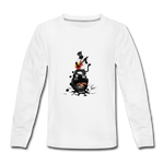 Kids' Panther Music Premium Long Sleeve T-Shirt - white