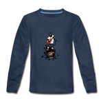 Kids' Panther Music Premium Long Sleeve T-Shirt - navy