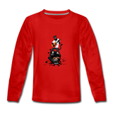 Kids' Panther Music Premium Long Sleeve T-Shirt - red