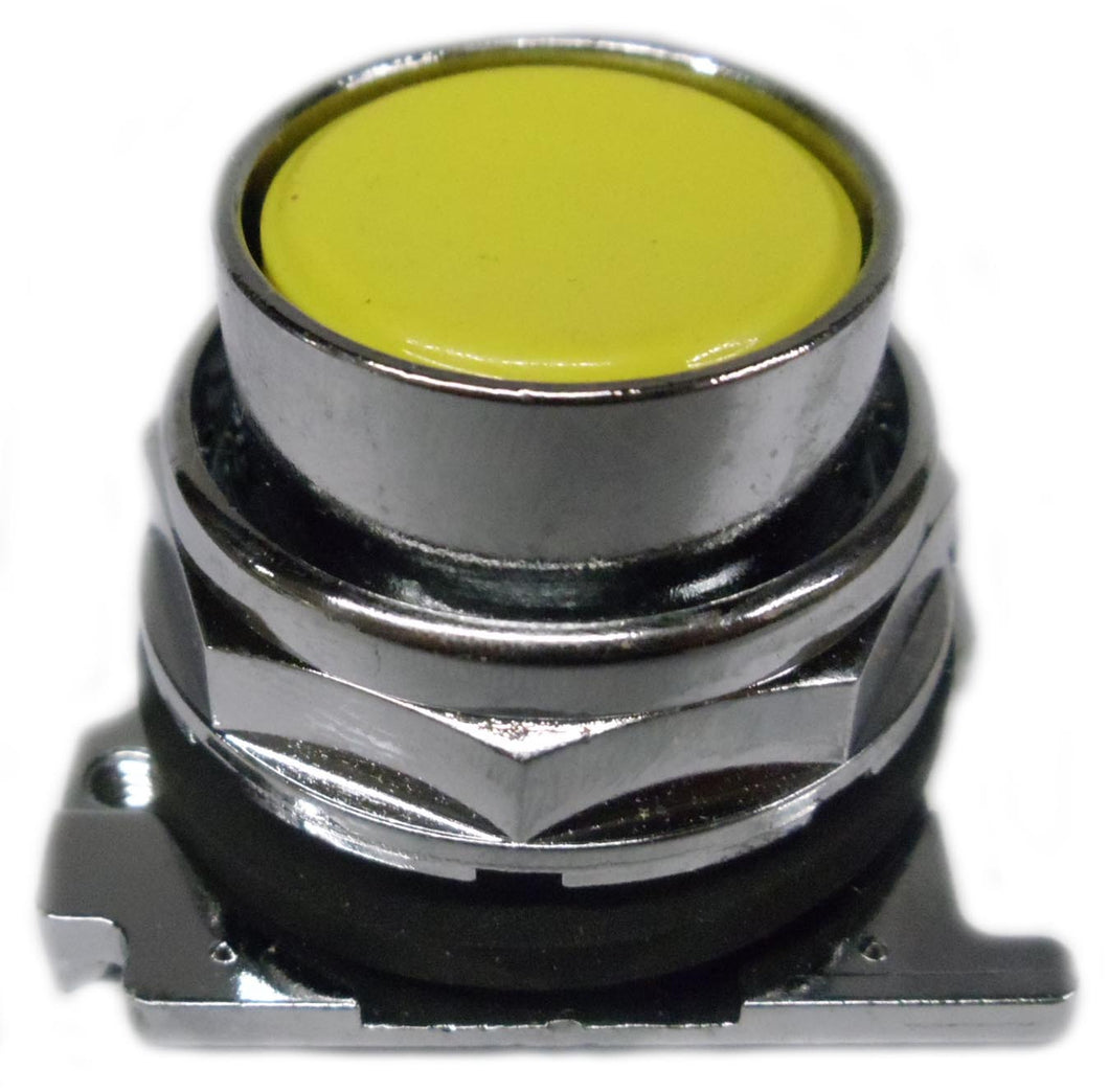Eaton 10250T104 30.5 mm, Heavy-Duty, Pushbutton Operator, Flush, Yellow Eaton 10250T104