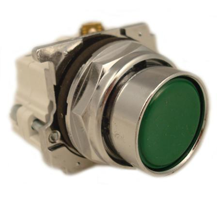 Eaton 10250T30G Push Button, Flush Green, 1NO/NC Momentary, 30mm, 600VAC Eaton 10250T30G