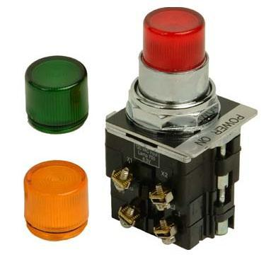 Eaton 10250T411C21-1-POP Push Button, 30mm,Extended, Red Lens, illuminated, 600VAC, 1NO/NC Eaton 10250T411C21-1-POP