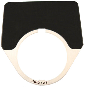 Eaton 10250TJ36 30mm Legend Plate, Blank, Black Field Eaton 10250TJ36