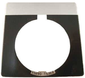 Eaton 10250TS36 30mm Legend Plate, Blank, Black Field Eaton 10250TS36