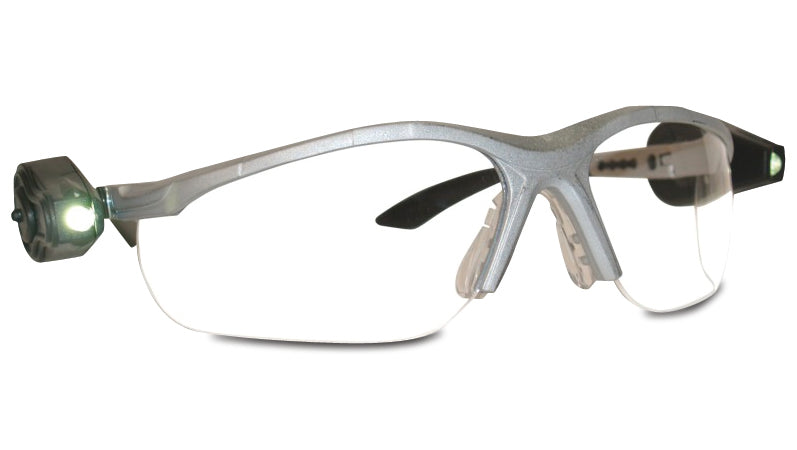 3M 11476-00000-10 Protective Eyewear, Anti-Fog Clear Lens, Black Frame w/ Dual LED Lights 3M 11476-00000-10