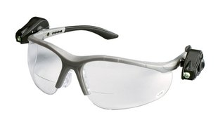 3M 11477 Protective Eyewear with LED, Half-Frame, Gray,Anti-Fog Lens 3M 11477