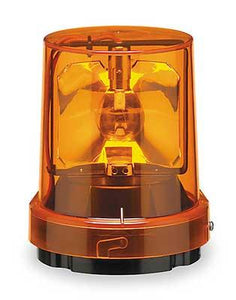 Federal Signal 121S-120A Beacon, Rotating, Incandescent, Amber Federal Signal 121S-120A