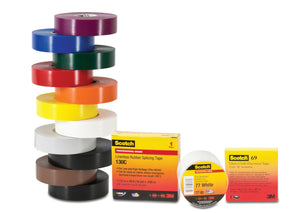 "3M 130C-1-1/2x30FT Linerless Rubber Splicing Tape, 1-1/2"" x 30' 3M 130C-1-1 / 2x30FT"