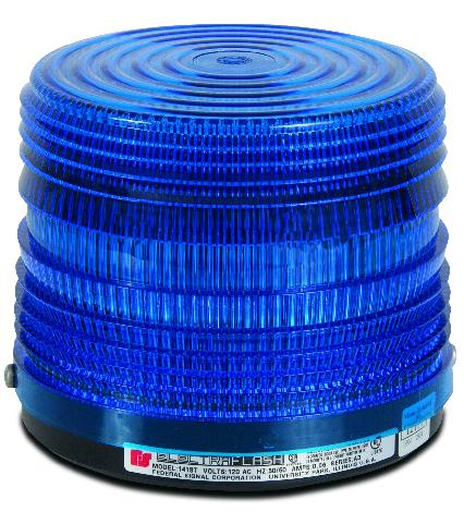 Federal Signal 141ST-120B Beacon, Strobe, Blue, Voltage: 120VAC Federal Signal 141ST-120B