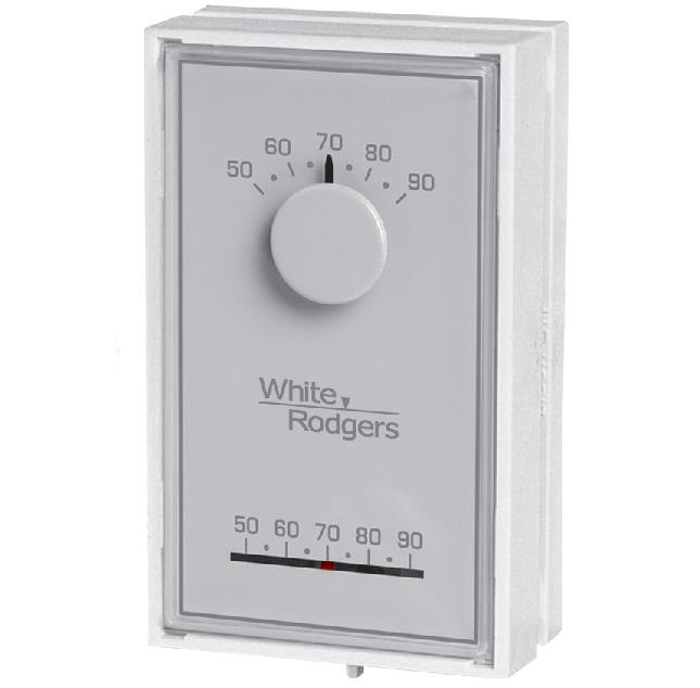 White-Rodgers 1E30N-910 Mechanical Thermostat White White-Rodgers 1E30N-910
