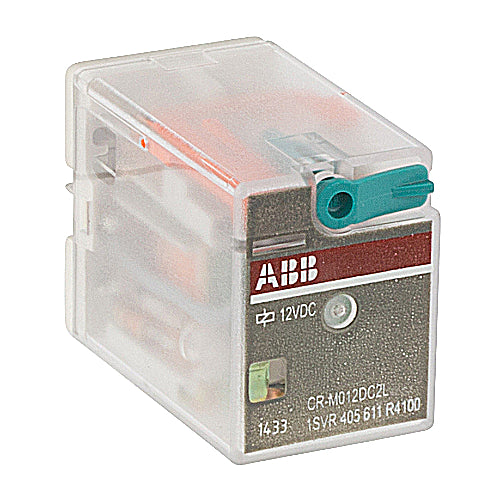 ABB 1SVR 405 611 R4100 Interface Relay, Plug-In, 12A, SPDT, 250VAC Rated, 12VDC Coil ABB 1SVR 405 611 R4100