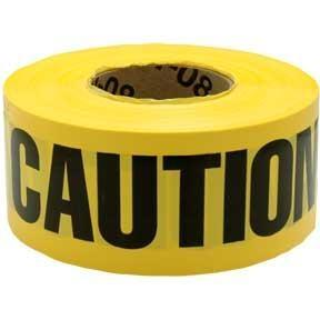 "3M 364 ""Caution Buried Electric Line Below"" Barricade Tape, 3"" x 1000' 3M 364"