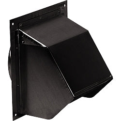 "Broan 843BL Wall Cap (black) for 6"" round duct Broan 843BL"