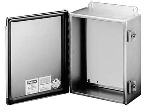"nVent Hoffman A1614CHNFSS Junction Box, NEMA 4X, Hinged, Stainless Steel, 16"" x 14"" x 6"" nVent Hoffman A1614CHNFSS"