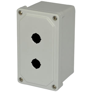 Allied Moulded AM2PB22 22mm Enclosure, 2 Element, Polyester, E34 Allied Moulded AM2PB22