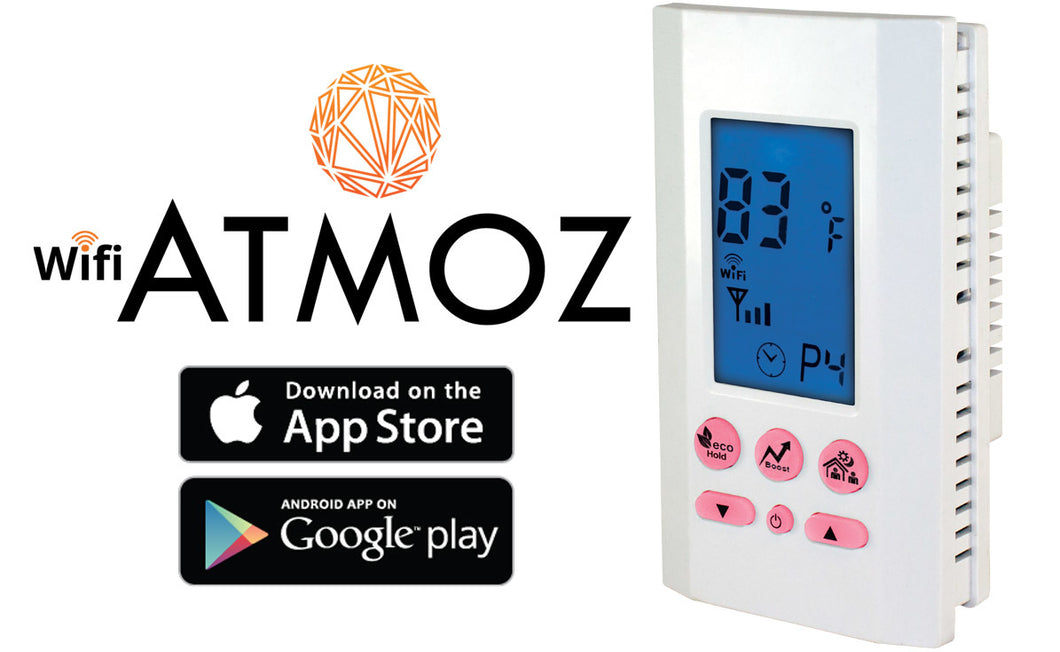 King Electrical ATMOZ1-240-WIFI ATMOZ2-240-WiFi Enabled Thermostat King Electrical ATMOZ1-240-WIFI