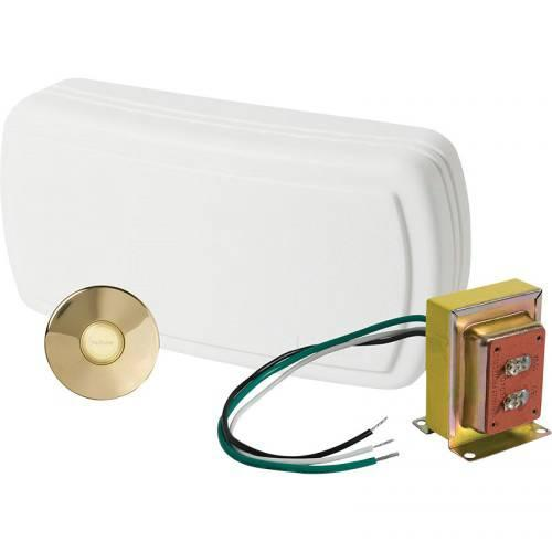 Nutone BK131LPB Polished Brass Wired Chime Kit Nutone BK131LPB