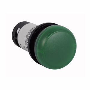 Eaton C22-L-G-120 22mm Assembled Indicator Light, Green, C22 Eaton C22-L-G-120