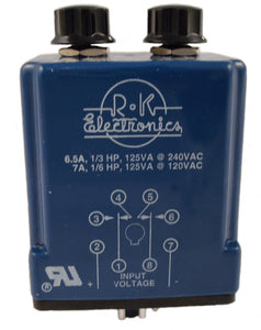 R-K Electronics CLRB-115A-2-20M-20 8 Pin, Timing Relay, DPDT, 120V Coil R-K Electronics CLRB-115A-2-20M-20
