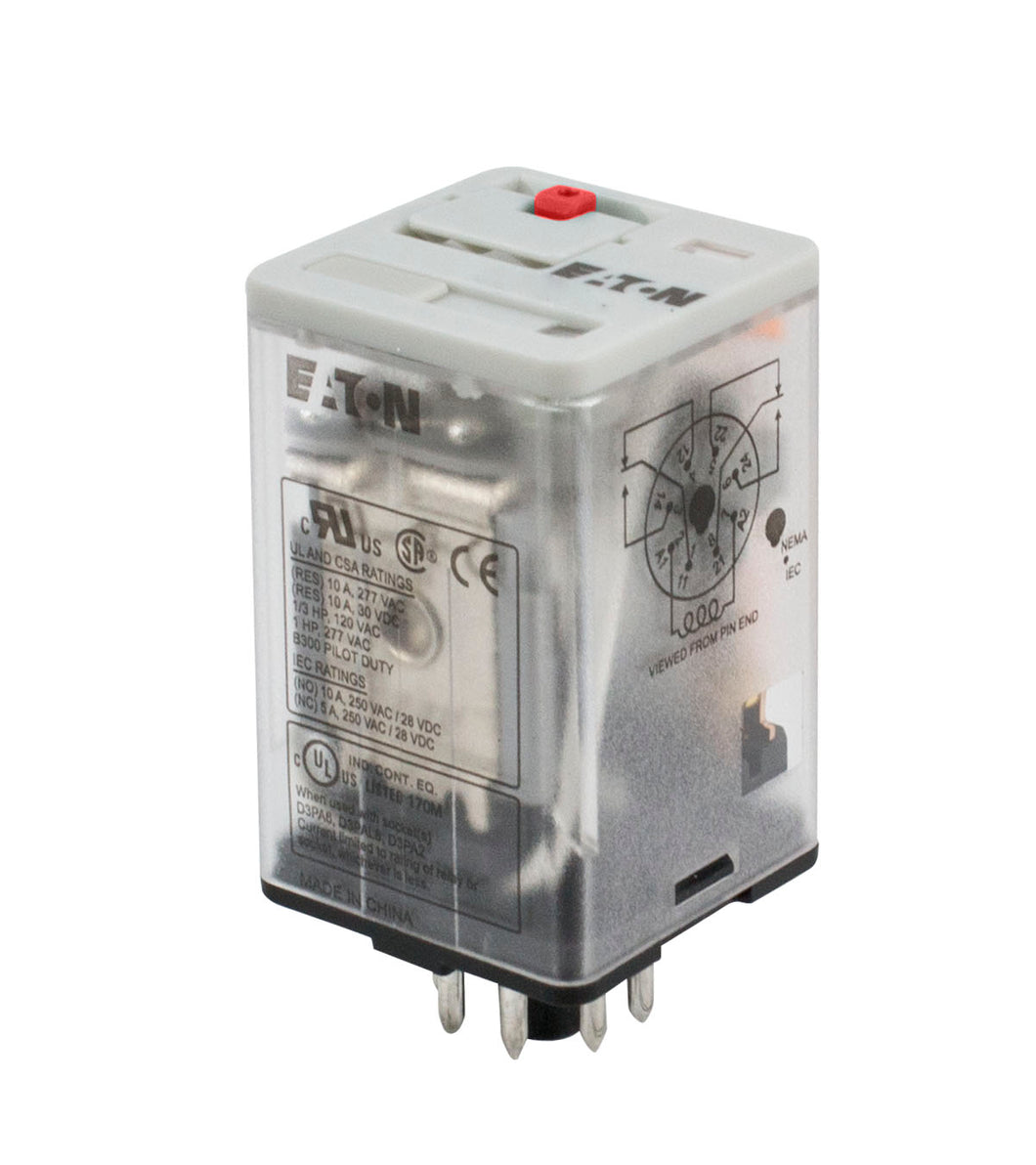 Eaton D2RF4A1 General Purpose Relay, 14 Blade, 4PDT, 110V DC Eaton D2RF4A1