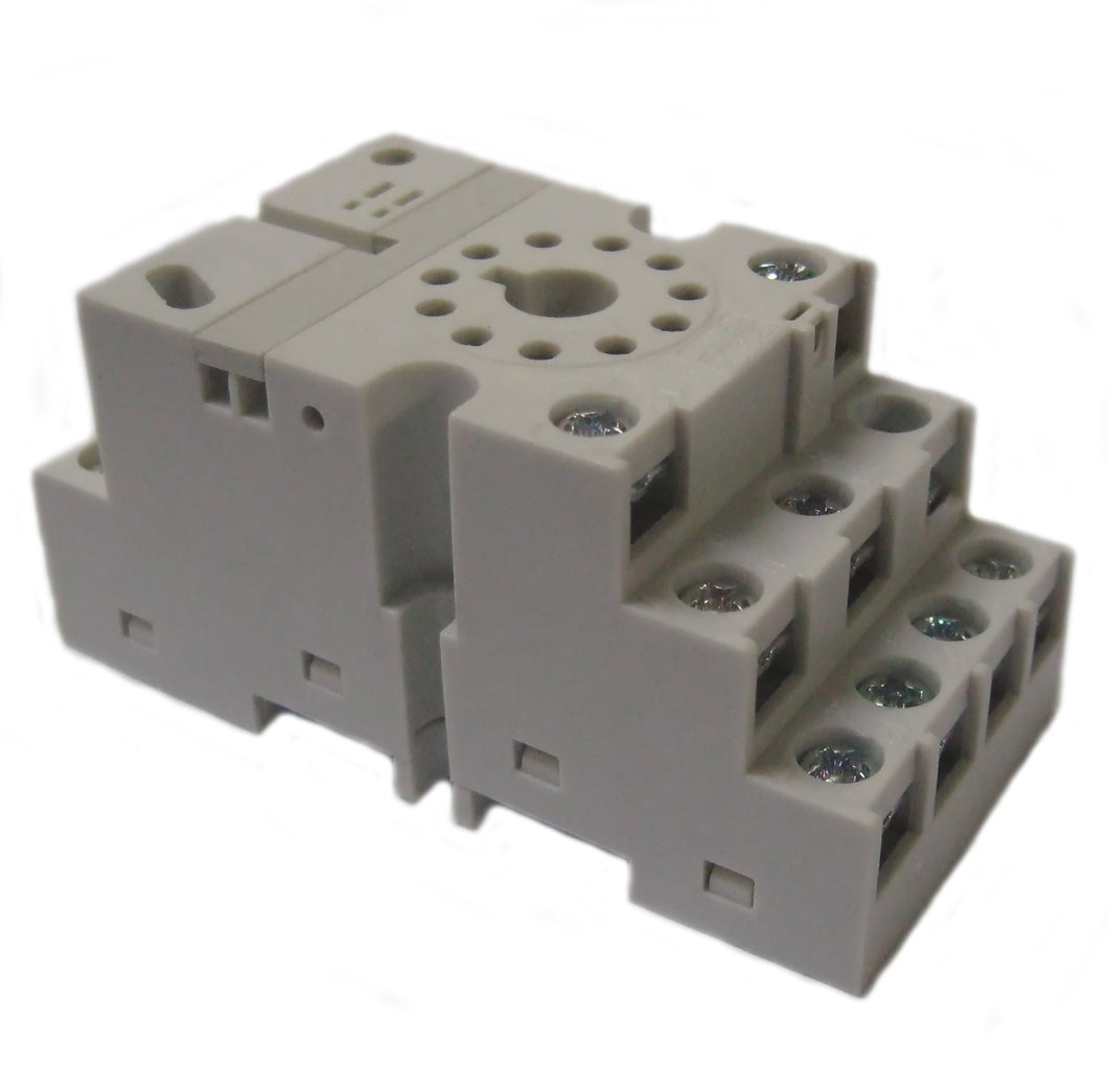 Eaton D3PA7 Socket, Octal, 11 Pin, Screw & Clamp Terminals, for D3PR3/PF3 Eaton D3PA7