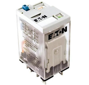 Eaton D7PF2AT1 Relay, Ice Cube, 8-Blade, 2PDT, 15A, 24VDC, with Option Eaton D7PF2AT1