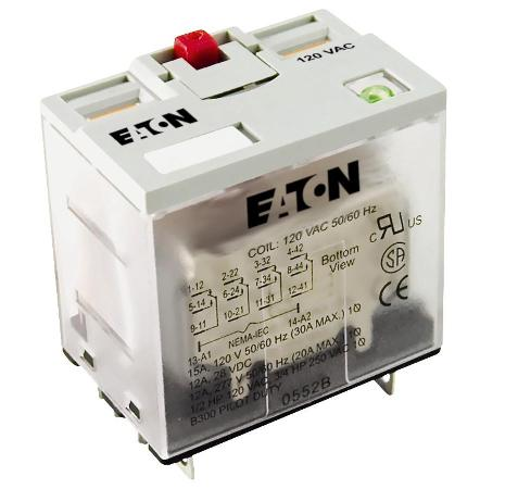 Eaton D7PF4AT General Purpose Relay, 14 Blade, 4PDT, 24V AC Eaton D7PF4AT