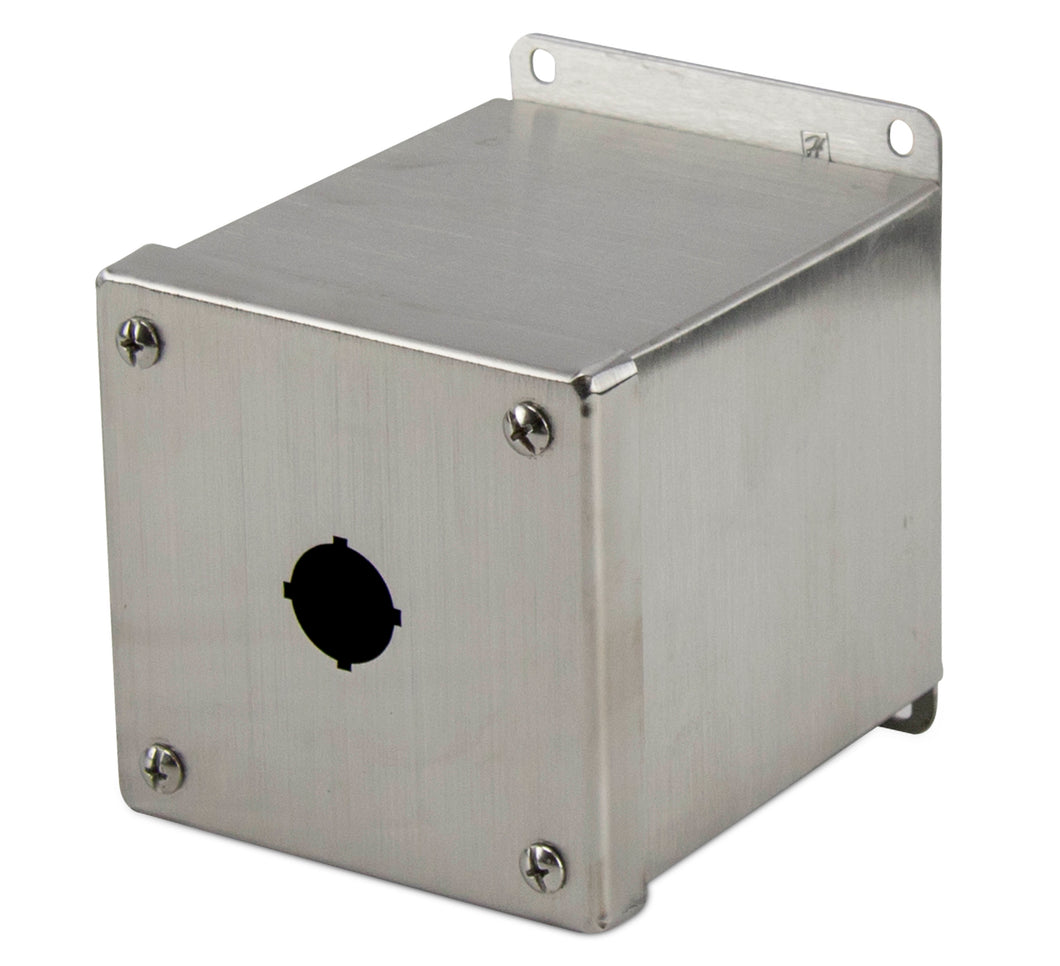 nVent Hoffman E1PBGXSS 22mm Enclosure, 1 Element, Stainless Steel nVent Hoffman E1PBGXSS