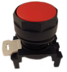 Eaton E22PB2 Pushbutton, 22mm, Flush, Red, Momentary, E22, Mounting Base Eaton E22PB2