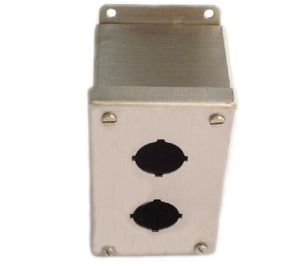 nVent Hoffman E2PBSS Enclosure, Pilot Device, 30 mm, 2 Hole, Stainless Steel, Type 12/13 nVent Hoffman E2PBSS