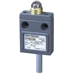 Eaton E47BCC08 Limit Switch, Compact, Prewired, Sealed Roller Plunger, Compact Eaton E47BCC08