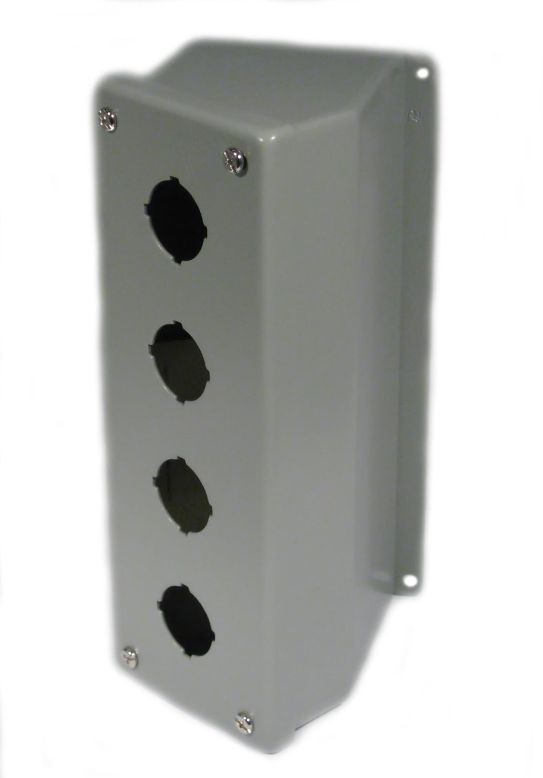nVent Hoffman E4PBA Enclosure, Pilot Device, 30mm, 4 Hole, Sloped Front, Steel, Type 12 nVent Hoffman E4PBA
