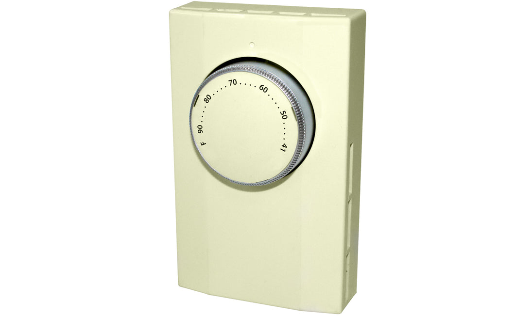 King Electrical K101A Thermostat, 1-Pole, 22A, 120-277V, Almond King Electrical K101A