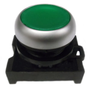 Eaton M22-DL-G Pushbutton, Flush, Green, M22, Operator Only, Illuminated Eaton M22-DL-G