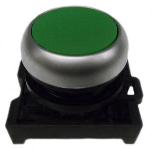 Eaton M22-DR-G Flush Pushbutton, Green, M22 Eaton M22-DR-G