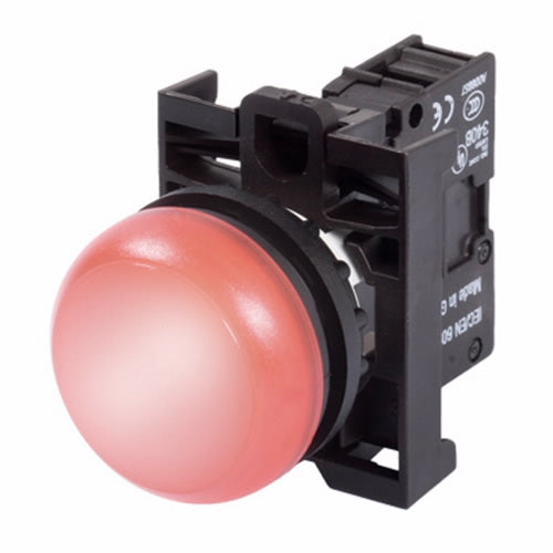 Eaton M22-L-R-R Indicator Light, 22mm Assembled, 12 - 30V AC/DC, Red, M22, Compact Eaton M22-L-R-R