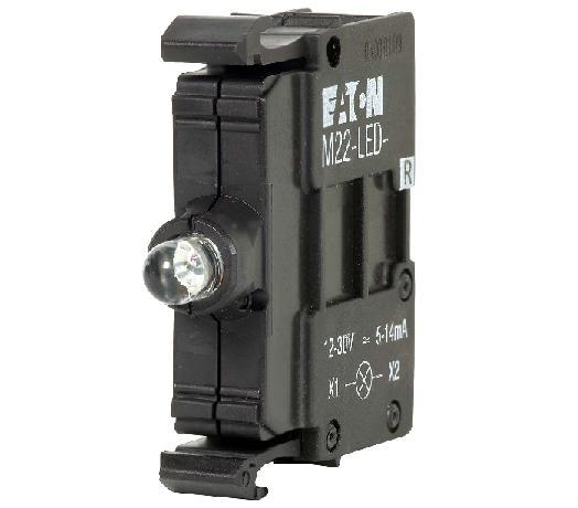 Eaton M22-LED-W Pilot Device, 22mm, Lamp Block, White, LED, M22, Front Mount Eaton M22-LED-W