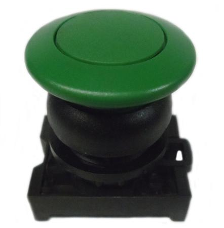 Eaton M22S-DRP-G Mushroom Head Pushbutton, Green, M22 Eaton M22S-DRP-G