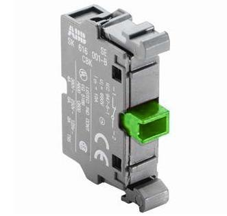 ABB MCB-10 Pilot Device, 22mm Contact Block, 1NO, Front Mount, Non-Metallic ABB MCB-10