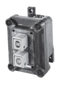 Appleton N1DC75U2 Pushbutton Station, Non Factory Sealed, 2 Circuit, 2NO/NC Contact Appleton N1DC75U2
