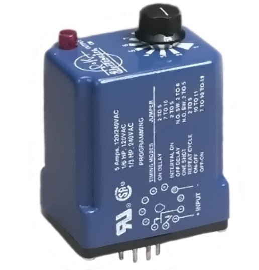 R-K Electronics TUB-115V-2 Timing Relay, Multifunction, Multi-Time, 115VAC Supply, 11-Pin, 10A R-K Electronics TUB-115V-2