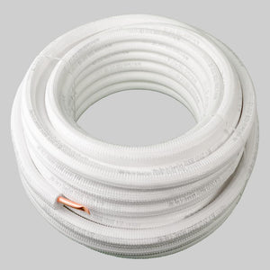 DiversiTech TWP1212-164 White Pipe Pre-Insulated Refrigerant Line Set DiversiTech TWP1212-164