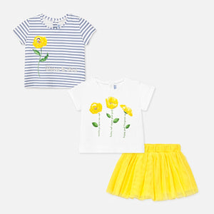 T-shirts and tulle skirt set for baby girl