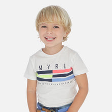 Load image into Gallery viewer, Short sleeved t-shirt with stripes for boy
