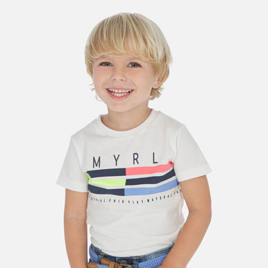 Short sleeved t-shirt with stripes for boy