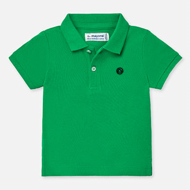 Short sleeved basic polo shirt for baby boy